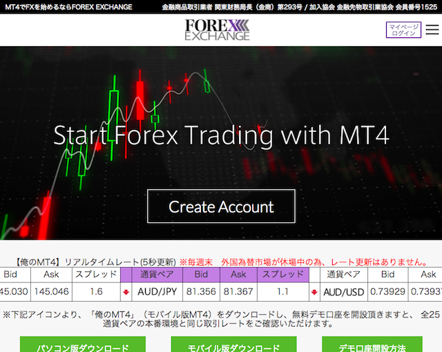 FOREX EXCHANGE [俺のMT4]