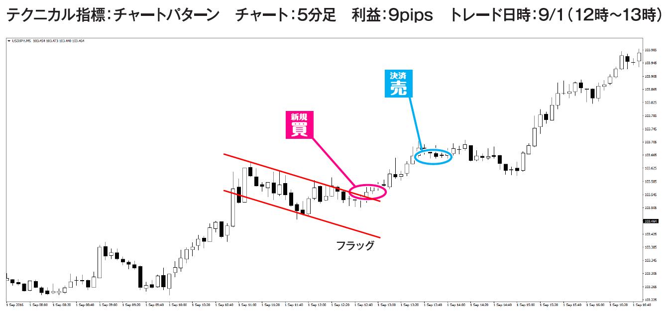 ドル円のトレード例④チャート