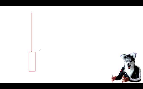 プライスアクションの説明(ヒゲの長いローソク足)